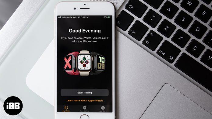 Cómo emparejar Apple Watch con iPhone