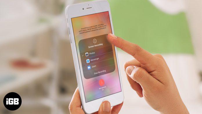 Cómo grabar pantalla en iPhone y iPad