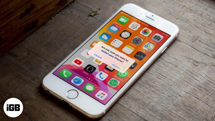 Cómo reiniciar iPhone sin botón de encendido y de inicio