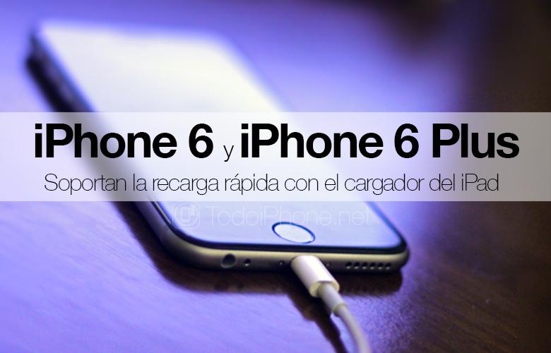 IPhone 6 dan iPhone 6 Plus mendukung pengisian cepat dengan pengisi daya iPad 1