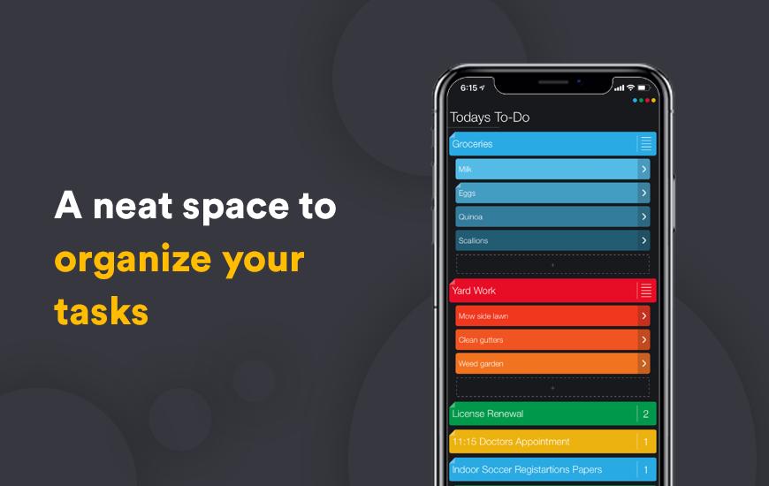 La aplicación Suru ofrece una forma colorida de organizar tus proyectos