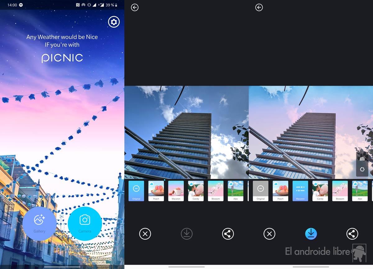 Ubah langit foto Anda dengan aplikasi Piknik