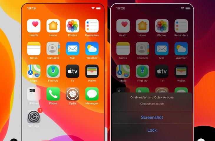 OneHandWizard 2 mempermudah penggunaan iPhone besar dengan satu tangan 1