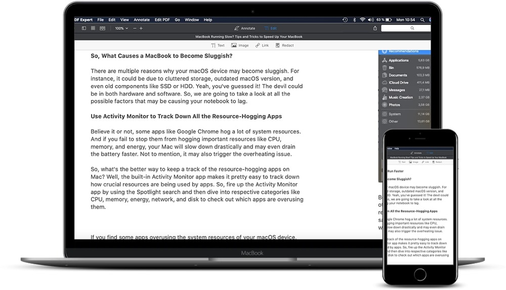 PDF Expert funciona a la perfección en iPhone, iPad y Mac