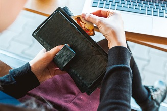 Informações de pagamento no aplicativo Wish