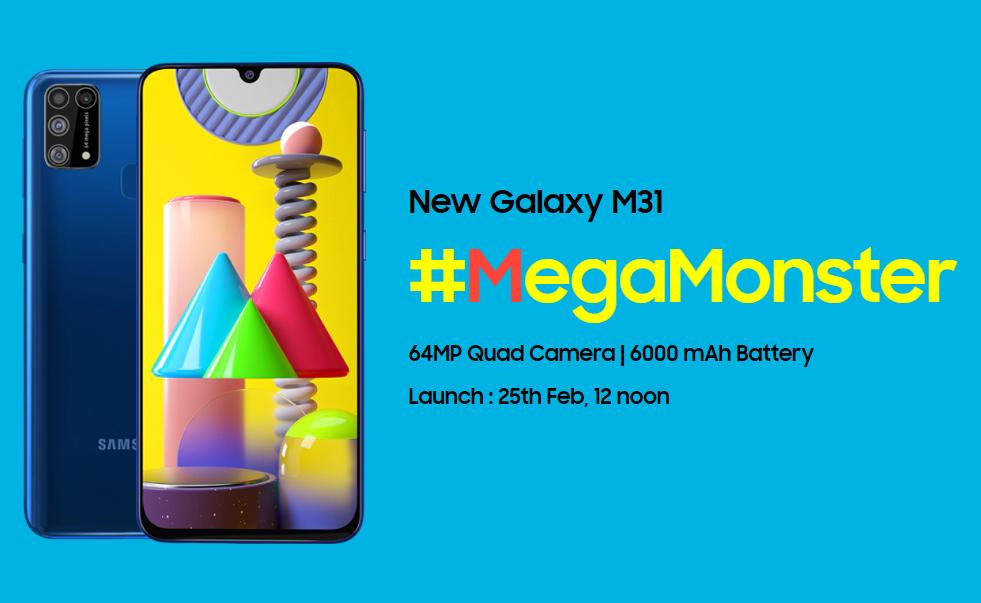 Samsung Galaxy M31 akan tiba pada 25 Februari, dengan baterai raksasa