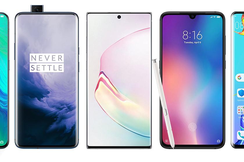 Samsung Galaxy Note  10 dan 10+, sehingga mereka menghadapi Android high-end seperti Xiaomi Mi 9, Huawei P30 Pro atau OnePlus 7 Pro