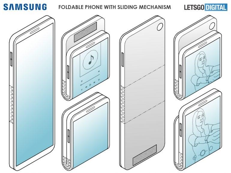 Samsung patentó un nuevo diseño para la segunda generación Galaxy Fold 1