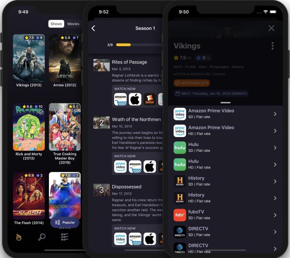 TVSofa memungkinkan Anda melacak acara TV dan film, terintegrasi dengan layanan streaming populer 1