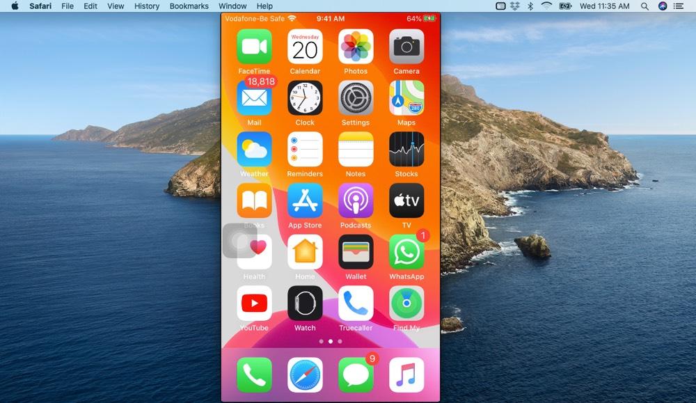 Ver la pantalla del iPhone en Mac