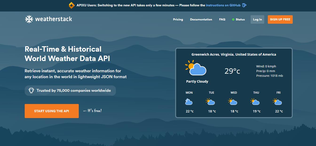WeatherStack API: reaaliaikainen säätieto projektillesi