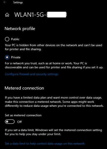 Windows 10: Konfigurera en uppmätt anslutning 2