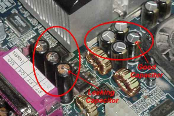 İyi bir kapasitör ile değiştirilmesi gereken bir kapasitör arasındaki fark.
