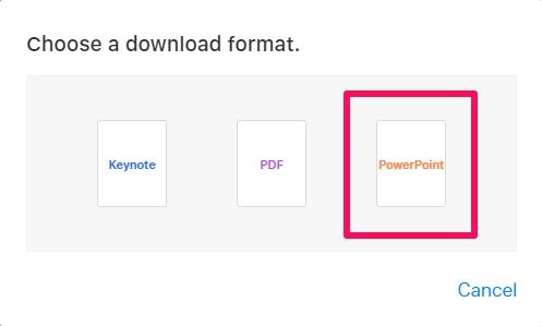 Cómo convertir Keynote a PowerPoint con iCloud