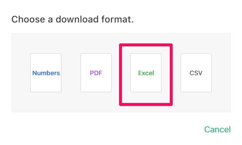 Cómo convertir números a Excel con iCloud