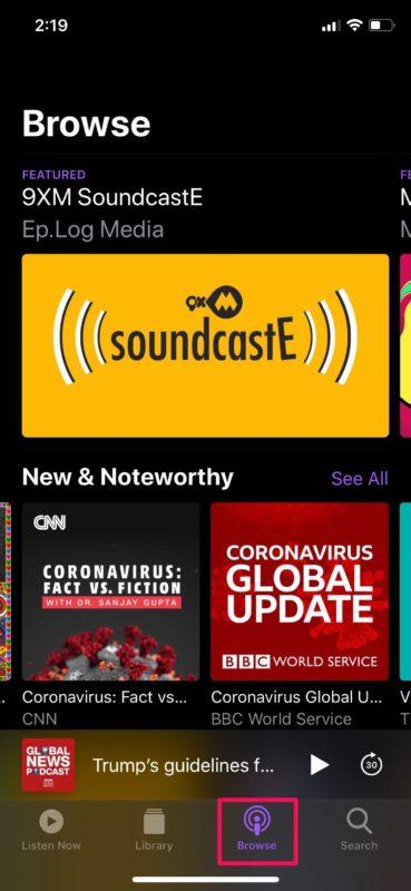 Cómo administrar suscripciones de podcasts en iPhone y iPad