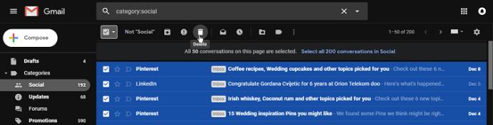 Bütün Gmail e-poçtlarınızı iPhone-dan necə silmək olar 4