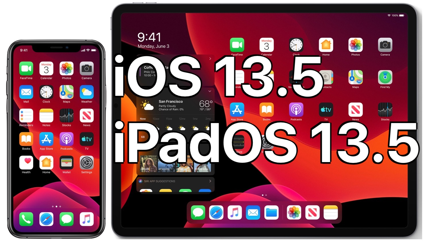 iOS 13.5 and iPadOS 13.5