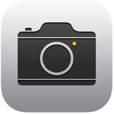icono de la cámara iOS