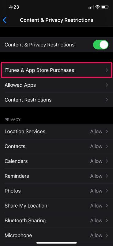Cómo desactivar las compras en la aplicación con tiempo de pantalla