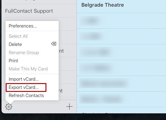 También puede exportar desde iCloud, si inicia sesión a través de una Mac o un iPad