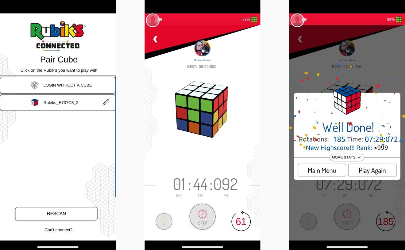 Emparejar el cubo es sencillo, al igual que la función Quick Timer para cronometrar sus soluciones.