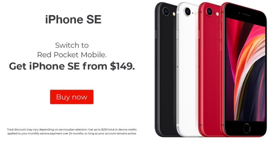 Oferta de iPhone SE en Red Pocket Mobile