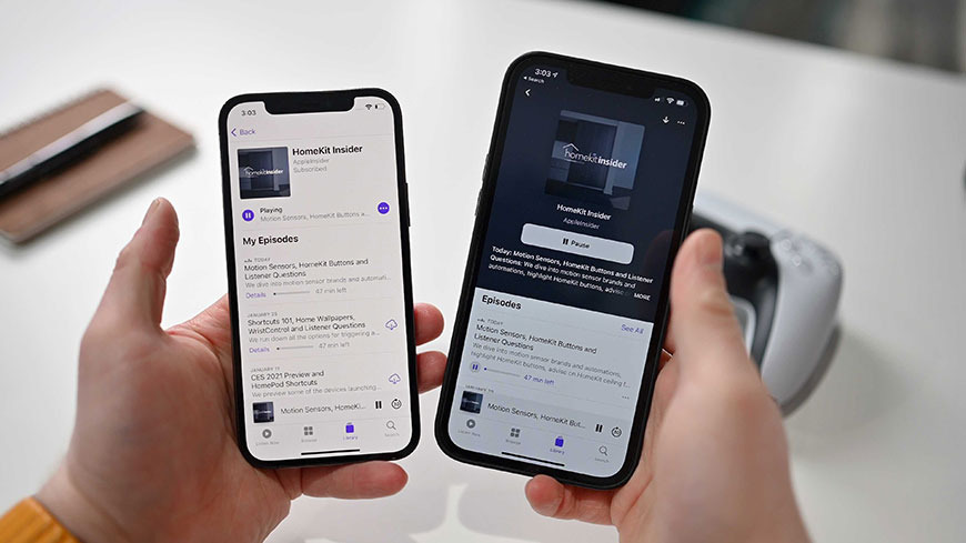 iOS 14.5 interfaz de usuario beta del podcast