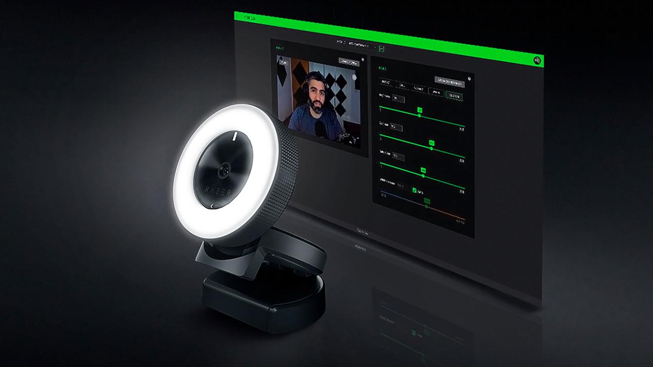 El Razer Kiyo es conveniente, pero la integración de la cámara web y la luz en un dispositivo puede no ser siempre ideal