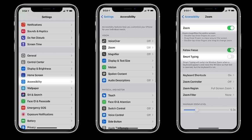 Cómo habilitar la función de zoom en iOS