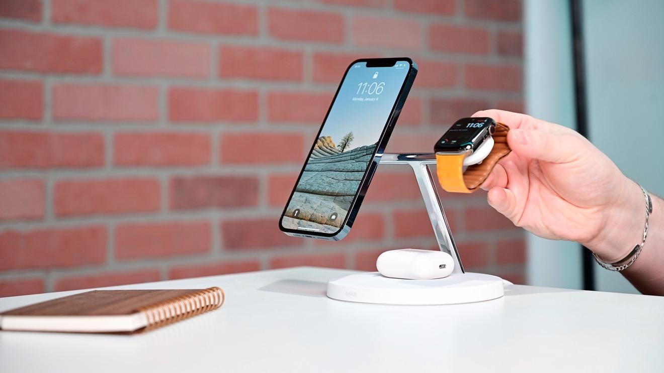Colocación Apple Watch en el Boost Charge Pro