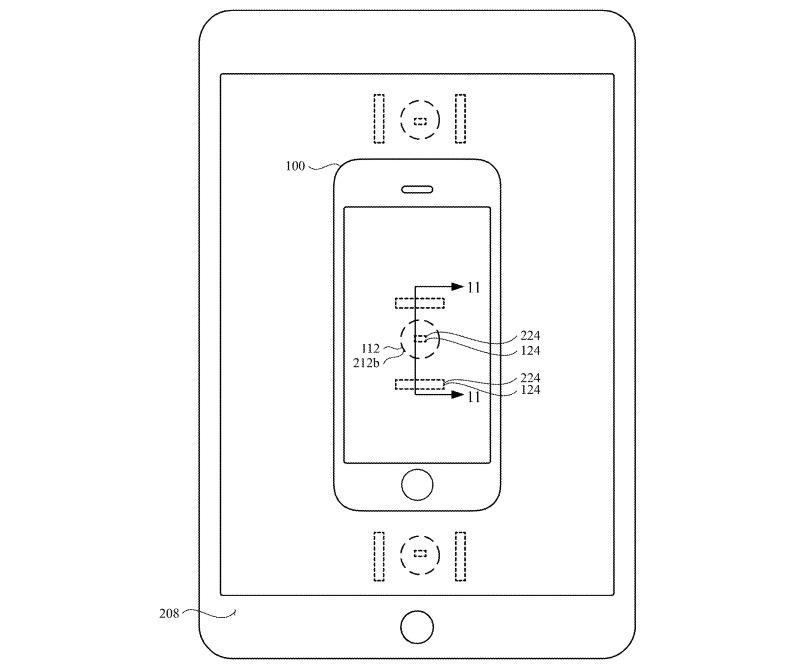 La patente sugiere que un iPhone podría cargarse colocándolo en la pantalla de un iPad.