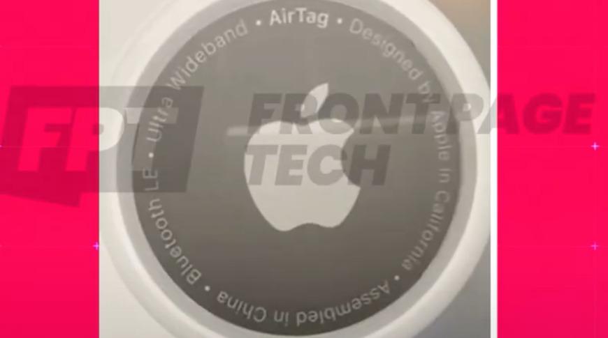 Apple  El diseño final de la herramienta de seguimiento 'AirTags' se muestra en la animación.  Crédito de la imagen: Front Page Tech