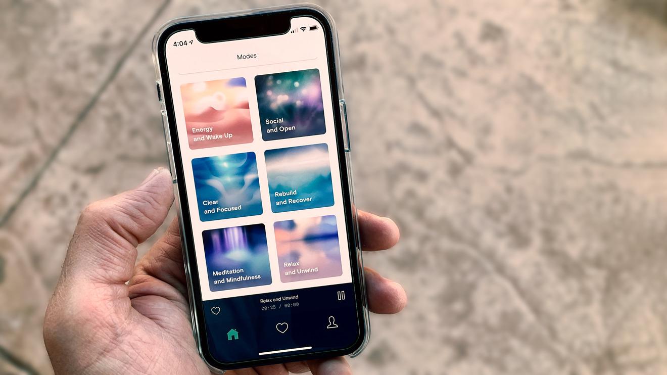 La aplicación para iPhone incluye siete modos, cada uno con tiempo e intensidad ajustables