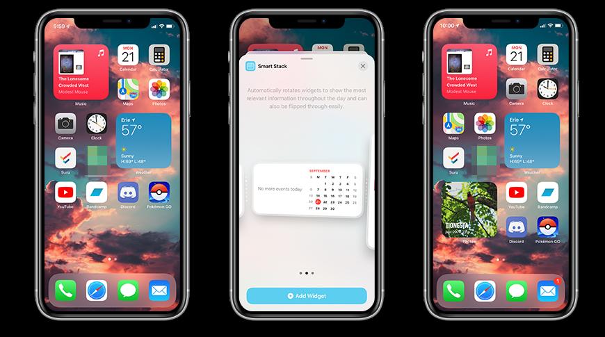Agregar widgets a su pantalla de inicio