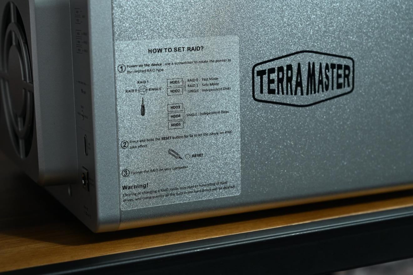 Algunas de las instrucciones RAID TerraMaster D5-300C.