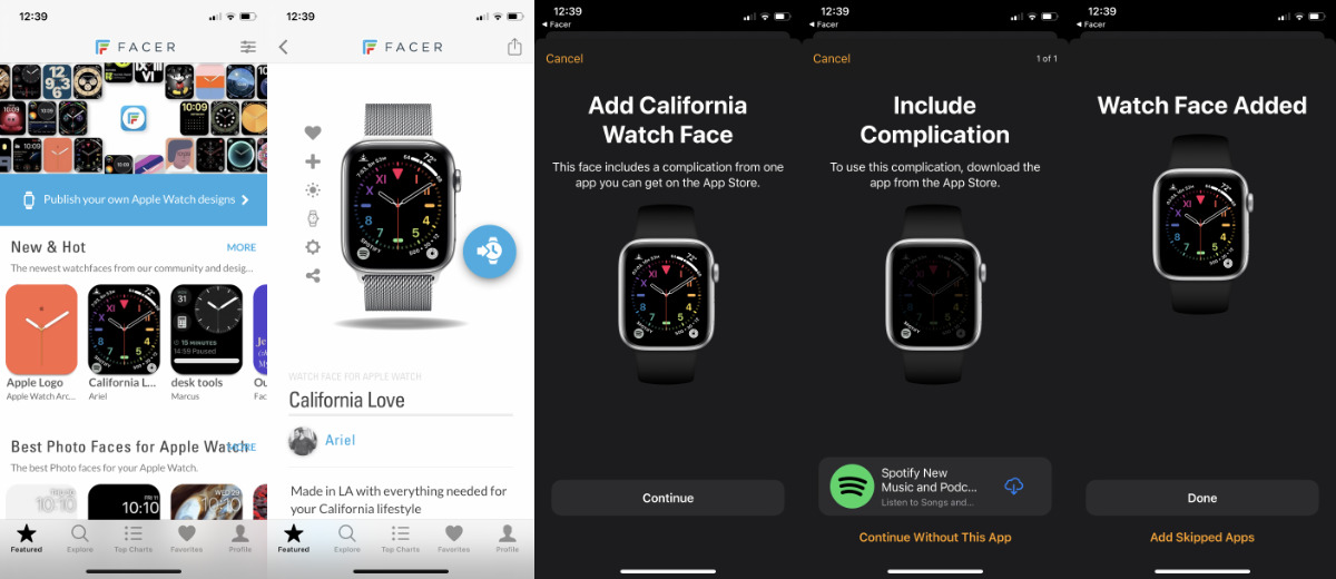 Tendrás que usar tu iPhone para instalar la nueva esfera del reloj.