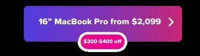 Hasta $ 400 de descuento en MacBook Pro 16 oferta de pulgadas