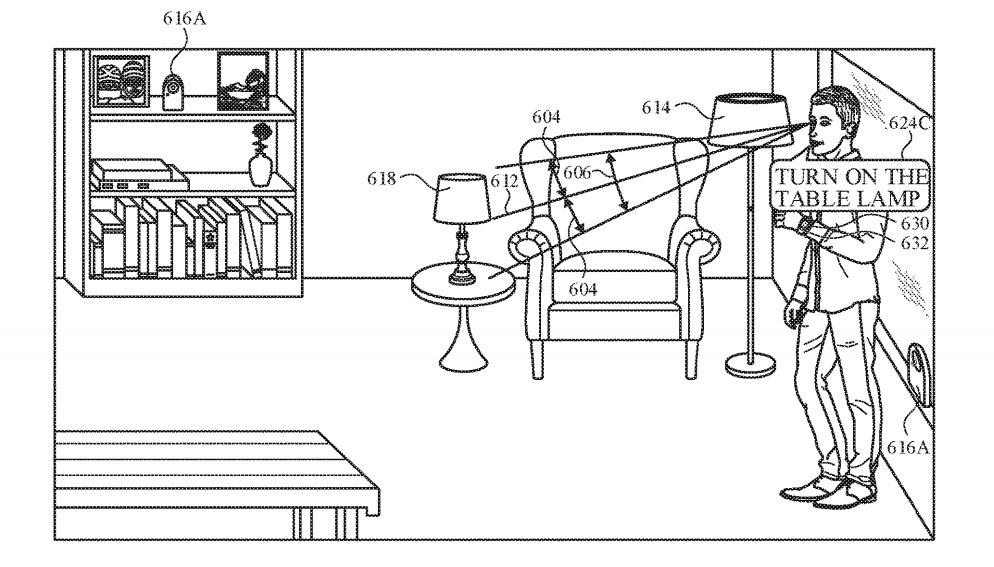 Los dispositivos cercanos podrían detectar la mirada del usuario de otros objetos controlables en una habitación.