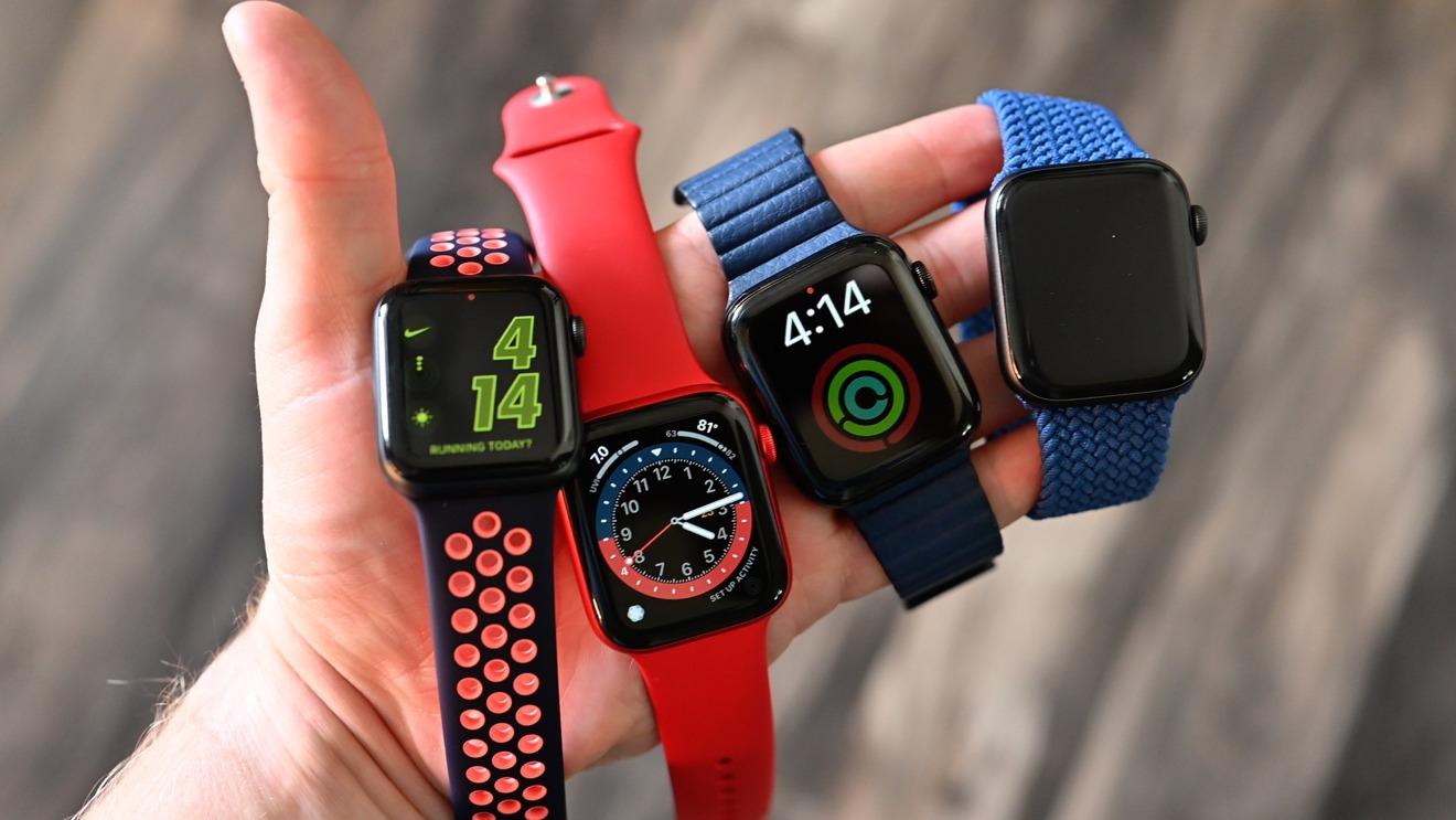 Surtido de Apple Watch Serie 6 y estilos SE