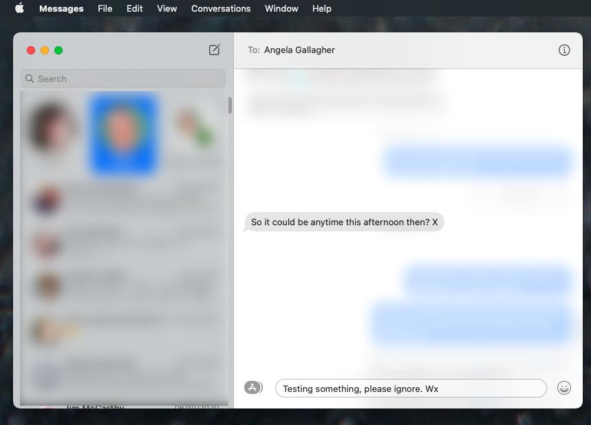 Cuando responde a un mensaje específico en línea, el resto de la conversación se oculta