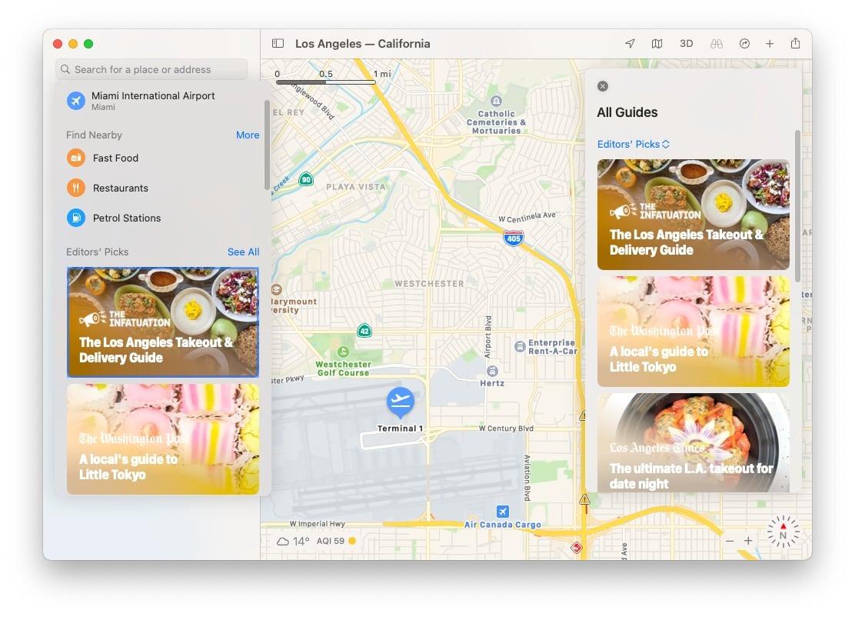 Las guías de Maps pueden informarle sobre los puntos calientes para comer en un área.