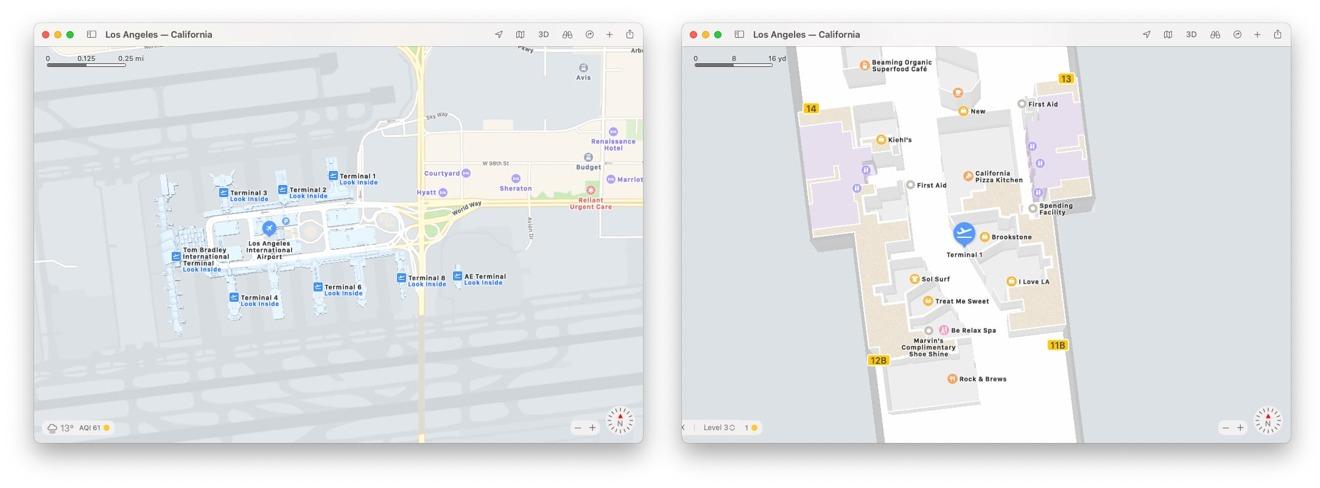 Simplemente amplíe algunos complejos para ver automáticamente los mapas de interiores en acción.