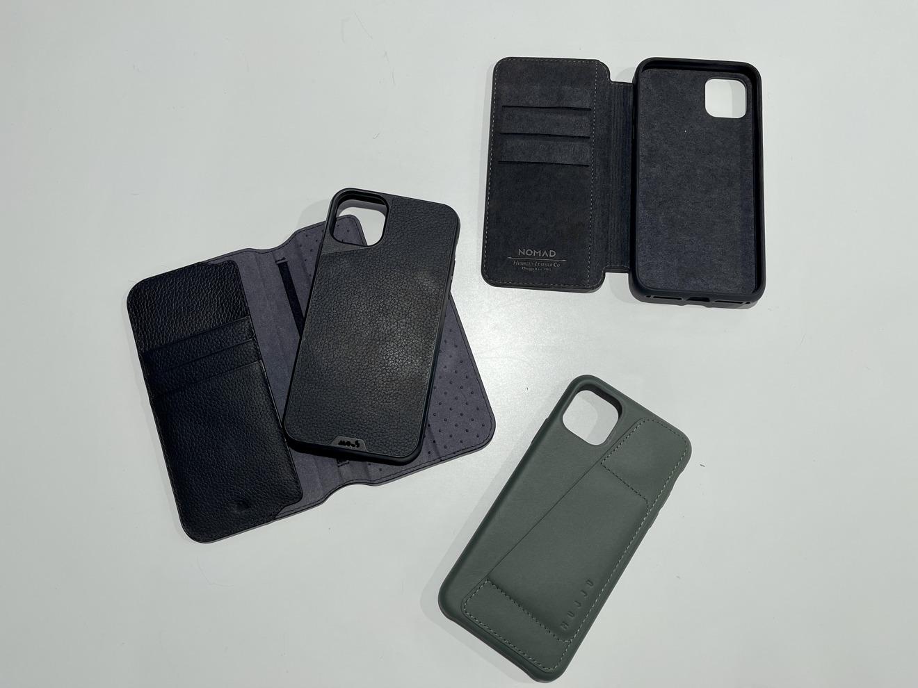 Solo algunas de las carteras que probé para el iPhone 11 Pro Max solo