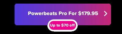 Ahorros navideños de Powerbeats Pro