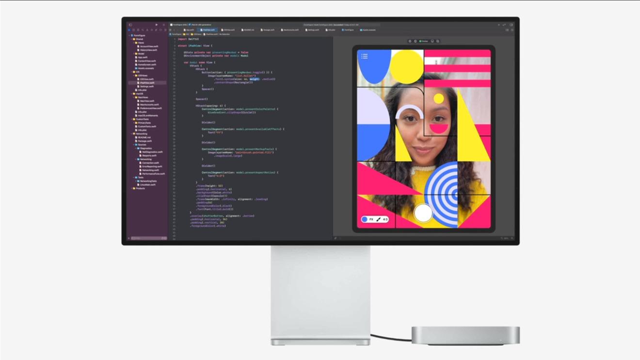 El nuevo Mac mini con un Pro Display XDR