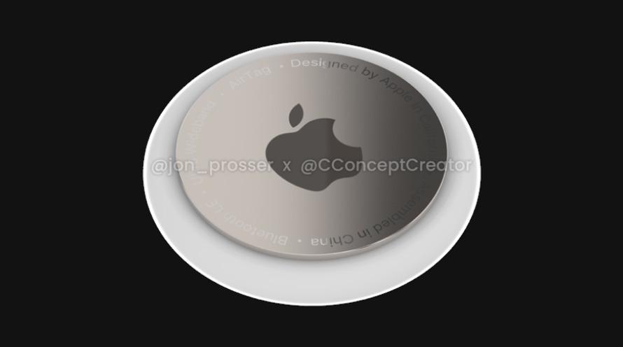 Un render de AppleAirTags de [via Jon Prosser]