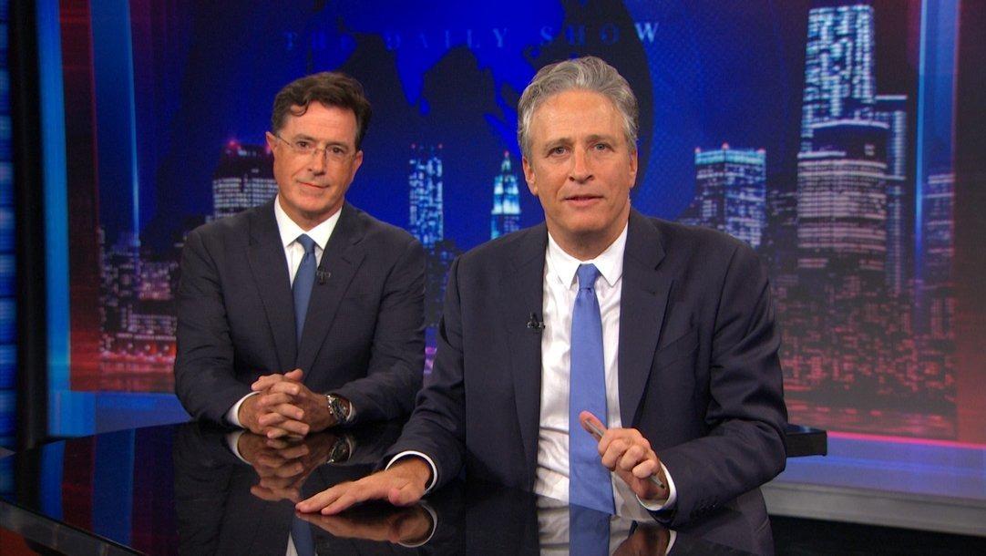 Jon Stewart y Stephen Colbert