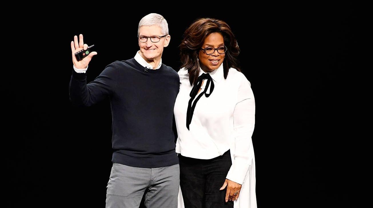 Tim Cook con Oprah Winfrey