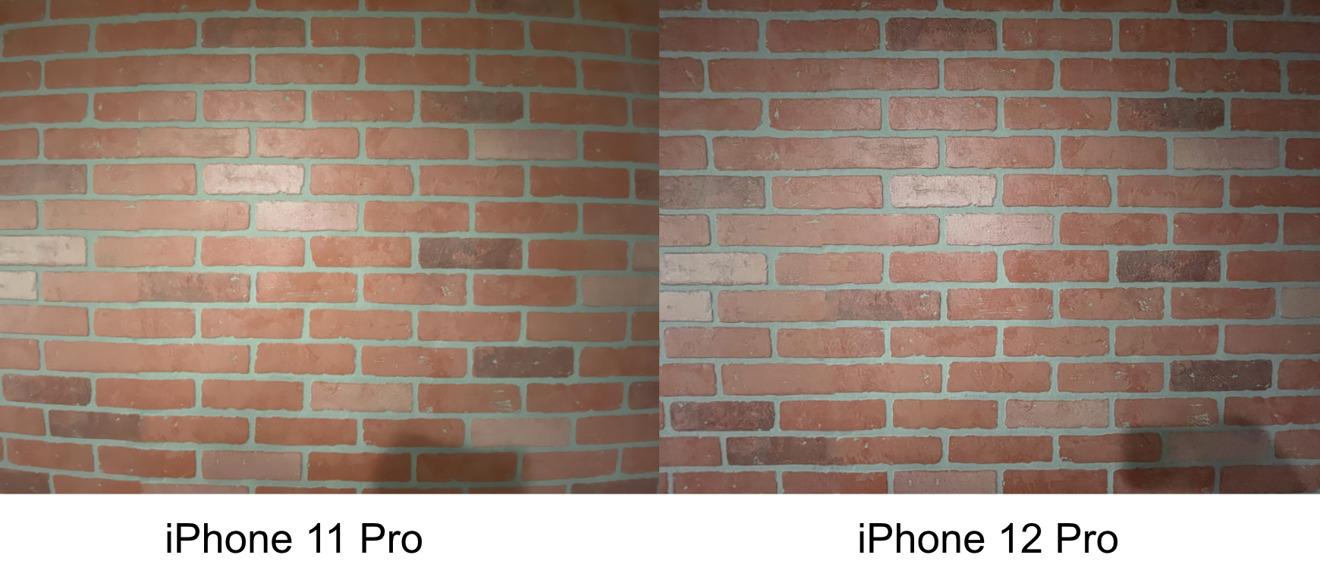 Corrección de lente ultra ancha en iPhone 12 Pro